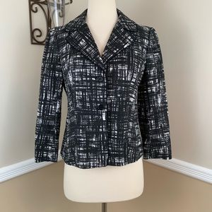 Ann Taylor Graphic Print Cotton Blazer Jacket